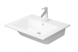 DURAVIT - ME by Starck Umývadlo nábytkové 630x490 mm, bez otvoru na batériu, alpská biela (2336630060)
