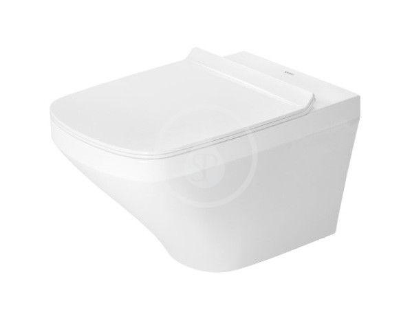 DURAVIT - DuraStyle Závesné WC so sedadlom SoftClose, Rimless, s WonderGliss, alpská biela 45510900A11