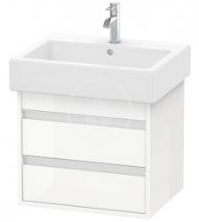 DURAVIT - Ketho Umývadlová skrinka 480x550x440 mm, 2 zásuvky, lesklá biela (KT663602222)