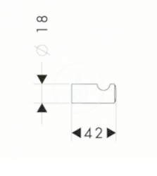HANSGROHE - Logis Classic Jednoduchý háčik, chróm (41611000), fotografie 2/1