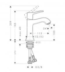 HANSGROHE - Metris Classic Páková umývadlová batéria bez odtokovej súpravy, chróm (31077000), fotografie 2/1