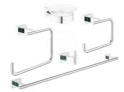 GROHE - Essentials Cube Súprava doplnkov do kúpeľne 5 v 1, chróm (40758001)