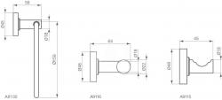 IDEAL STANDARD - IOM Dvojitý vešiak na uteráky, chróm (A9116AA), fotografie 4/2