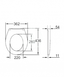 GROHE - Bau Ceramic WC sedadlo, duroplast, biela (39492000), fotografie 4/2