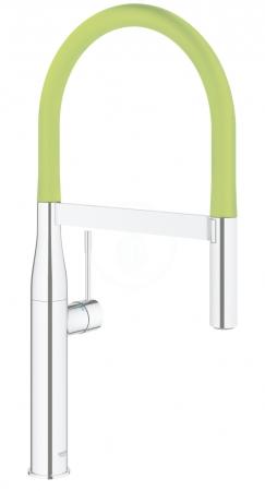 GROHE - Essence Drezová batéria s flexibilným ramenom, chróm/zelená (124978)