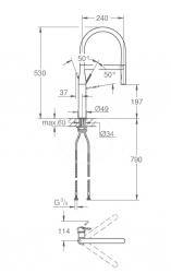 GROHE - Essence Drezová batéria s flexibilným ramenom, chróm/zelená (124978), fotografie 2/4