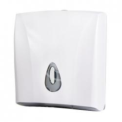 SANELA - Plastové doplňky Zásobník na skladané papierové uteráky, plast, biely (SLDN 03)