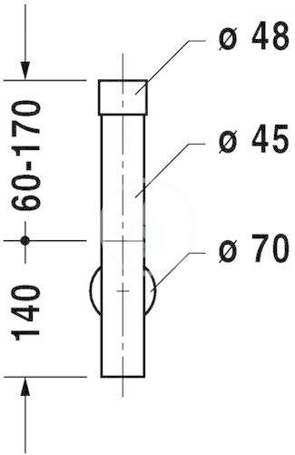 DURAVIT - Příslušenství Dizajnový sifón (0050361000)