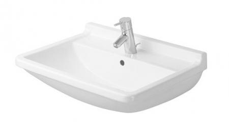 DURAVIT - Starck 3 Jednootvorové umývadlo s prepadom, 550mmx430mm, biele (0300550000)