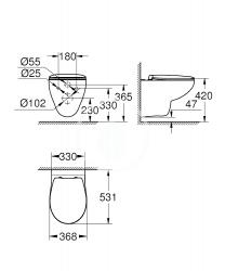 GROHE - Bau Ceramic Závesné WC so sedadlom softclose, alpská biela (39497000), fotografie 2/1