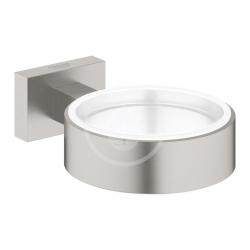 GROHE - Essentials Cube Držiak na poháre/mydlovničku, kefovaný Hard Graphite (40508AL1)