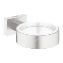 GROHE - Essentials Cube Držiak na poháre/mydlovničku, supersteel (40508DC1)