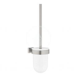 GROHE - Essentials Cube WC kefa s držiakom, kefovaný Hard Graphite (40513AL1)