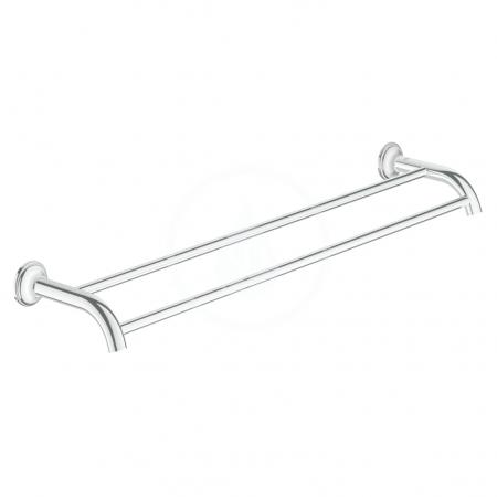 GROHE - Essentials Authentic Dvojramenný držiak na uteráky, chróm (40654001)