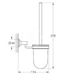 GROHE - Essentials Authentic Súprava na čistenie toalety, chróm (40658001), fotografie 2/1