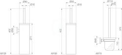 IDEAL STANDARD - IOM WC kefa s držiakom, chróm (A9119AA), fotografie 2/2