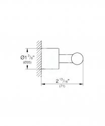 GROHE - Atrio Háčik na kúpací plášť, chróm (40312003), fotografie 2/1