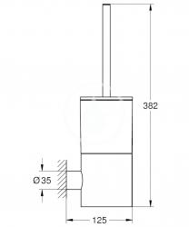 GROHE - Atrio Súprava na čistenie toalety, sklo/chróm (40314003), fotografie 2/1