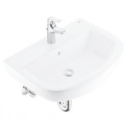 GROHE - Bau Ceramic Súprava umývadla a pákovej batérie s výpusťou, alpská biela/chróm (39472000)