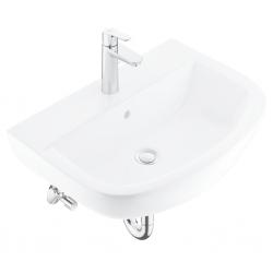 GROHE - Bau Ceramic Súprava umývadla 550 mm a batérie BauEdge s výpusťou, alpská biela/chróm (39643000)