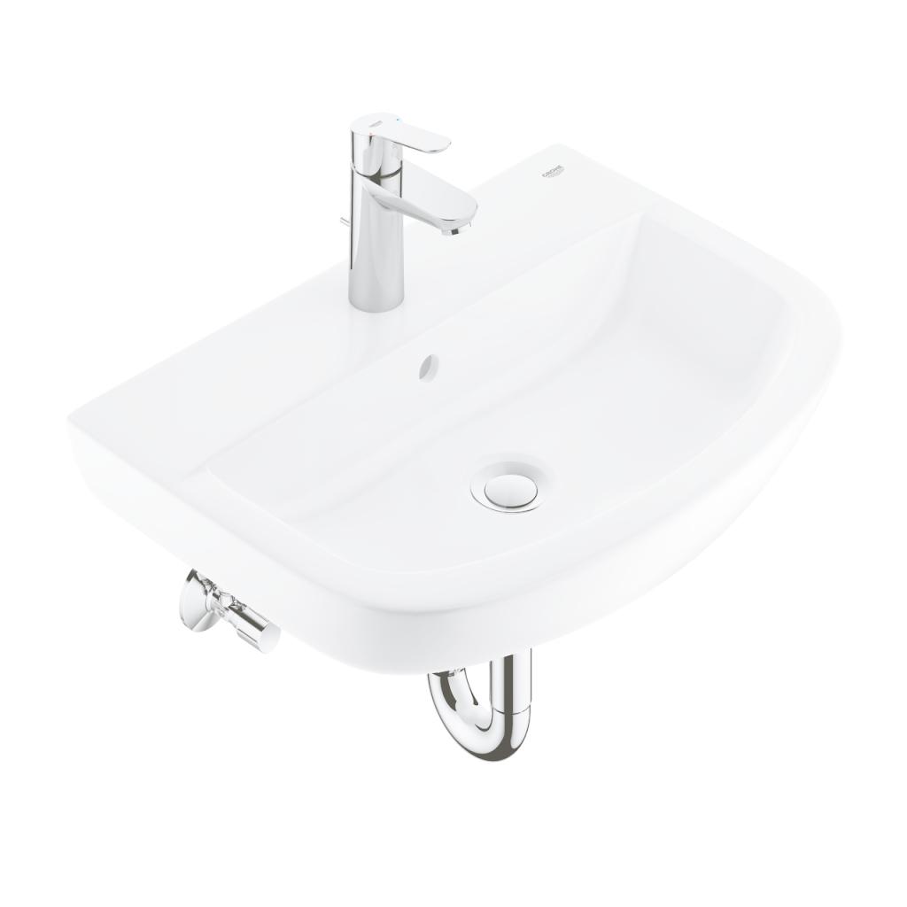 GROHE - Bau Ceramic Súprava umývadla 550 mm a batérie Start Edge s výpusťou, alpská biela/chróm 39471000