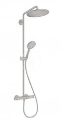 HANSGROHE - Croma Select S Sprchový set Showerpipe 280 s termostatom, EcoSmart, kefovaný čierny chróm (26891340)