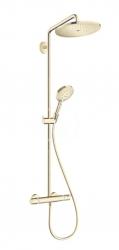 HANSGROHE - Croma Select S Sprchový set Showerpipe 280 s termostatom, EcoSmart, leštený vzhľad zlata (26891990)