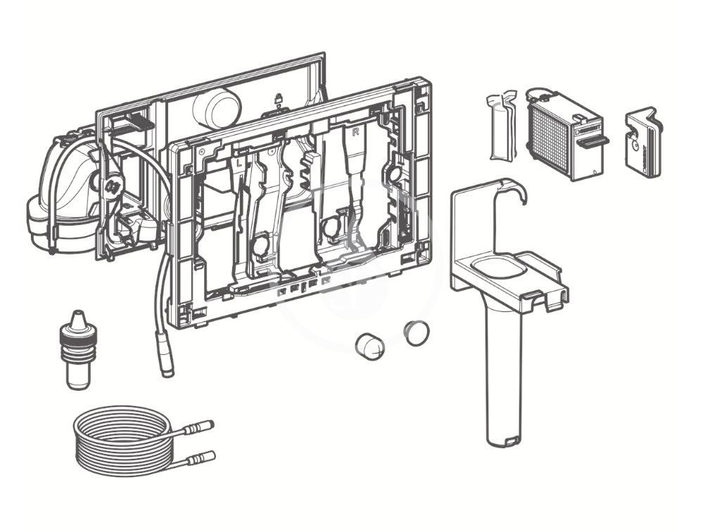 GEBERIT - Příslušenství Jednotka odsávania zápachu DuoFresh, automatické spúšťanie, na splachovaciu nádržku Sigma 12 cm, chróm (115.050.21.1)