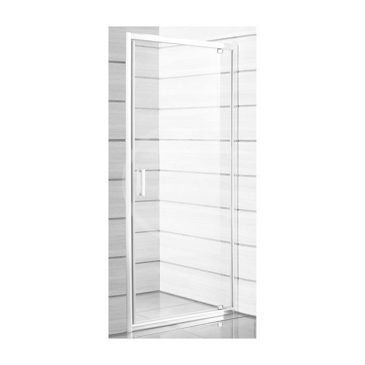 JIKA - Lyra plus Sprchové dvere pivotové 800 Ľ/P, sklo transparentné, biela H2543810006681