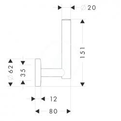 HANSGROHE - Logis Držiak náhradných kotúčov papiera, chróm (40517000), fotografie 2/1