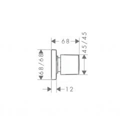 HANSGROHE - PuraVida Uzatvárací ventil pod omietku, biela/chróm (15978400), fotografie 2/1