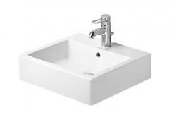 DURAVIT - Vero Trojotvorové umývadlo s prepadom, 500 mmx470 mm, biele (0454500030)