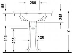 DURAVIT - 1930 Stĺp, 296 mmx280 mm, biely – stĺp (0857900000), fotografie 2/1