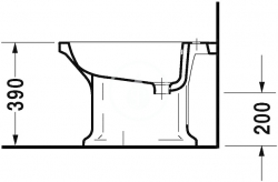 DURAVIT - 1930 Stojací bidet, 355 mmx600 mm, biely – bidet (0267100000), fotografie 4/3