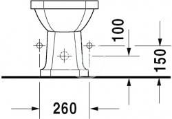 DURAVIT - 1930 Stojací bidet, 355 mmx600 mm, biely – bidet (0267100000), fotografie 6/3