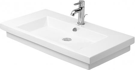 DURAVIT - 2nd floor Umývadlo s prepadom, 800 mmx500mm, biele – bezotvorové umývadlo (0491800060)