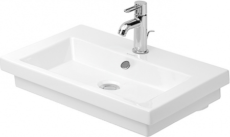 DURAVIT - 2nd floor Umývadlo s prepadom, brúsené, 600 mmx430 mm, biele – jednootvorové umývadlo (0491600027)