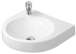 DURAVIT - Architec Umývadlo bez prepadu, 575 mmx520 mm, biele – bezotvorové umývadlo (0449580000)