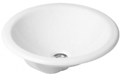 DURAVIT - Architec Bezotvorové umývadlo s prepadom, priemer 470 mm, biele – umývadlo (0468470000)