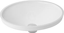 DURAVIT - Architec Bezotvorové umývadlo bez prepadu, priemer 420 mm, biele – umývadlo (0319420000)