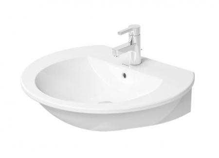 DURAVIT - Darling New Umývadlo s prepadom, 650 mmx540 mm, biele – trojotvorové umývadlo (2621650030)