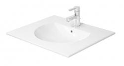 DURAVIT - Darling New Umývadlo do nábytku s prepadom, 630 mmx520 mm, biele – jednootvorové umývadlo (0499630000)