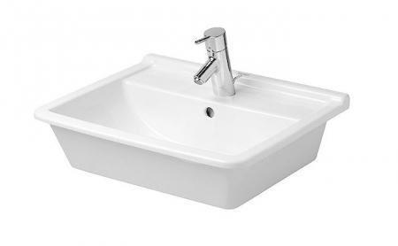 DURAVIT - Starck 3 Jednootvorové umývadlo s prepadom, 560 mmx460 mm, biele – umývadlo (0302560000)