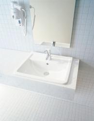 DURAVIT - Starck 3 Jednootvorové umývadlo s prepadom, 560 mmx460 mm, biele – umývadlo (0302560000), fotografie 2/2