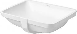 DURAVIT - Starck 3 Bezotvorové umývadlo s prepadom, 490 mmx365 mm, biele – umývadlo (0305490000)