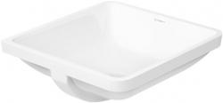DURAVIT - Starck 3 Bezotvorové umývadlo s prepadom, 430 mmx430 mm, biele – umývadlo (0305430000)