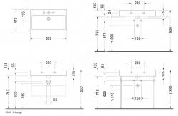 DURAVIT - Vero Umývadlo s prepadom, 800 mmx470 mm, biele – bezotvorové umývadlo (0454800060), fotografie 2/1