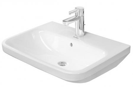 DURAVIT - DuraStyle Umývadlo s prepadom, 650 mmx440 mm, biele – trojotvorové umývadlo (2319650030)