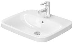 DURAVIT - DuraStyle Jednootvorové umývadlo s prepadom, 560 mmx455 mm, biele – umývadlo (0374560000)