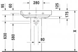 DURAVIT - Happy D.2 Umývadlo s prepadom, 650 mmx500mm, biele – jednootvorové umývadlo (2316650000), fotografie 4/3